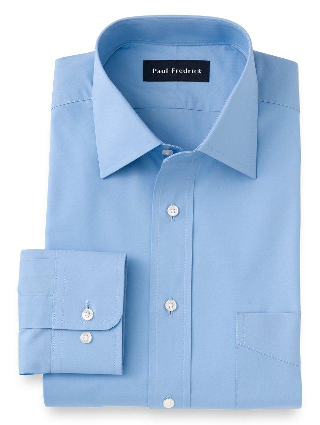 Cotton Broadcloth Windsor Spread Collar Dress Shirt