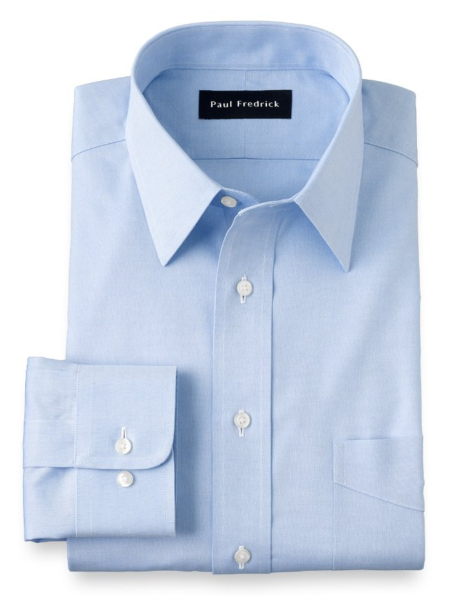 Non-Iron Cotton Pinpoint Straight Collar Dress Shirt
