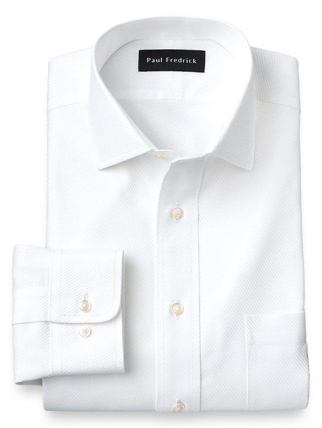 Non-Iron Cotton Twill Windsor Spread Collar Dress Shirt