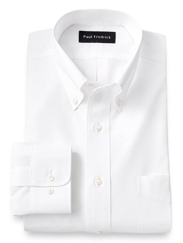 Non-Iron Supima Cotton Button Down Collar Dress Shirt
