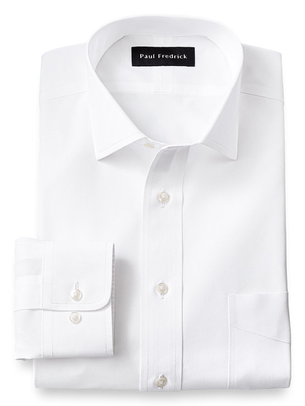 Supima Non-Iron Cotton Solid Color Spread Collar Dress Shirt