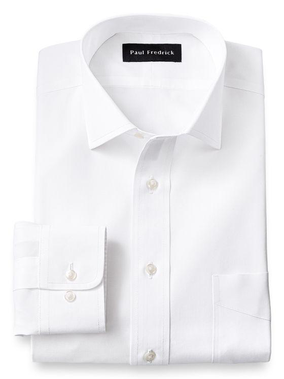 Supima Non-Iron Cotton Solid Color Spread Collar Dress Shirt