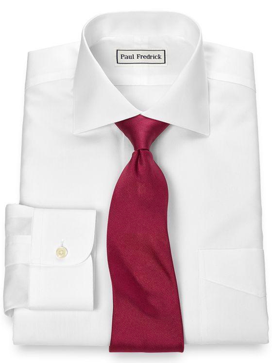 Supima Non-Iron Cotton Solid Color Cutaway Spread Collar Dress Shirt