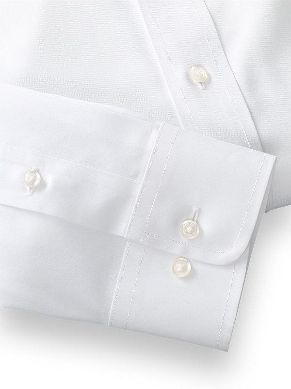 Impeccable Non-Iron Cotton Pinpoint Solid Color Button Down Collar Dress Shirt