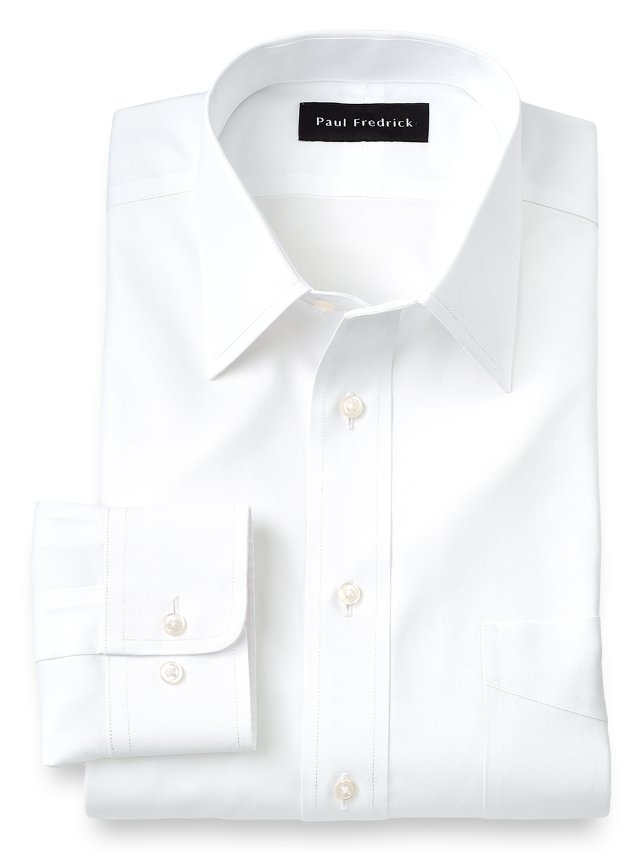 Non-Iron Impeccable Cotton Straight Collar Dress Shirt