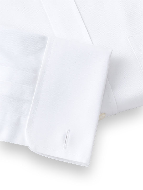 Superfine Egyptian Cotton Solid Color Button Tab Collar French Cuff Dress Shirt