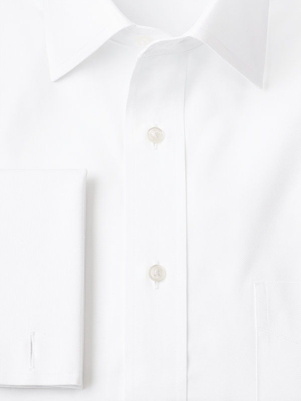 Superfine Egyptian Cotton Solid Color Spread Collar French Cuff Dress Shirt