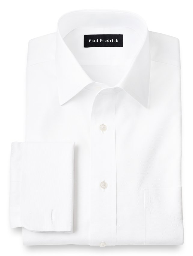 Egyptian Cotton Windsor Spread Collar French Cuff Dress Shirt