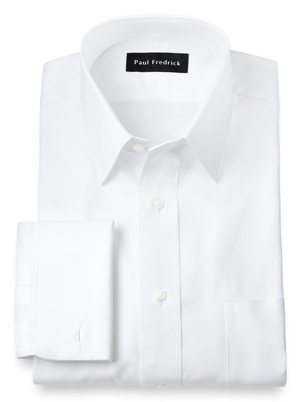 Superfine Egyptian Cotton Solid Color Straight Collar French Cuff Dress Shirt