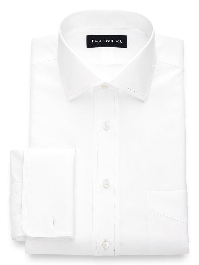 Non-Iron Cotton Broadcloth Spread Collar French Cuff Dress Shirt