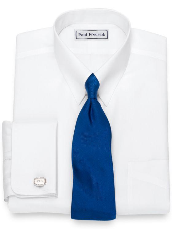 Non-Iron Supima Cotton Button Tab Collar French Cuff Dress Shirt