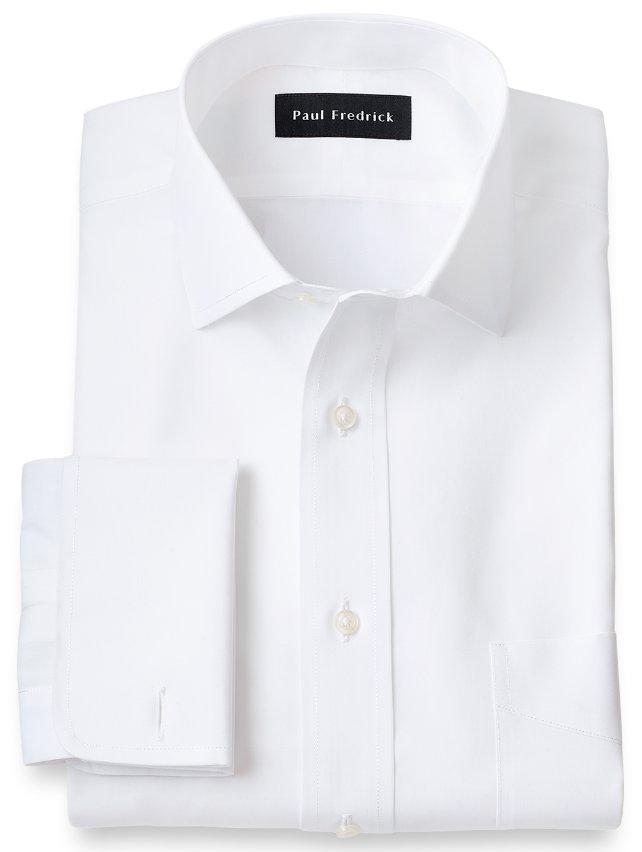 Non-Iron Supima Cotton Spread Collar French Cuff Dress Shirt