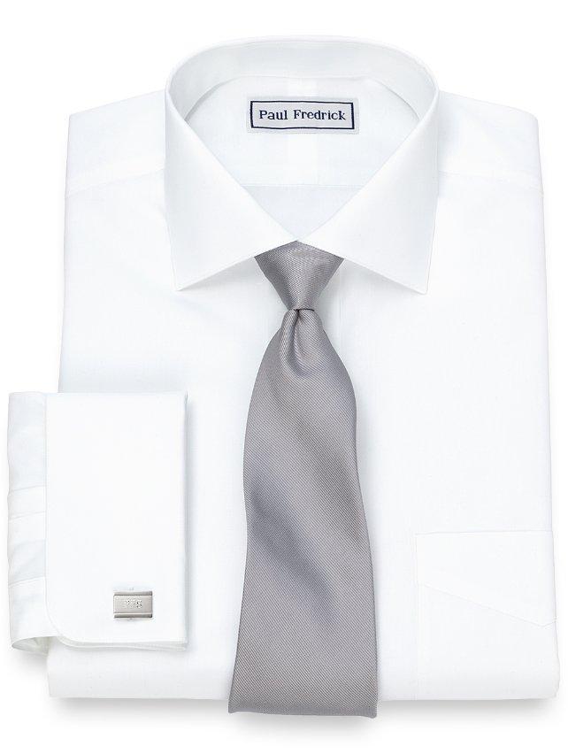 Non-Iron Supima Cotton Cutaway Collar French Cuff Dress Shirt