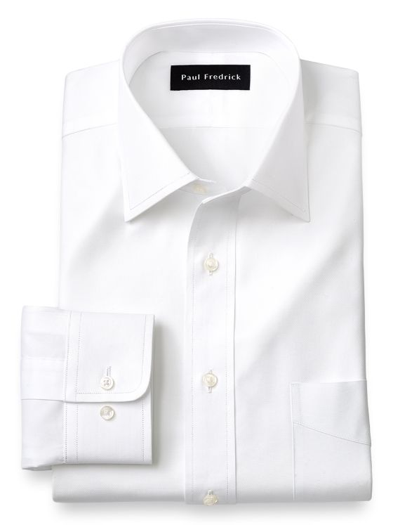 Superfine Egyptian Cotton Solid Color Spread Collar Dress Shirt