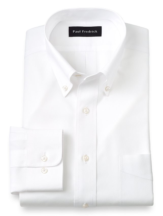 Slim Fit Non-Iron Impeccable Cotton Button Down Collar Dress Shirt