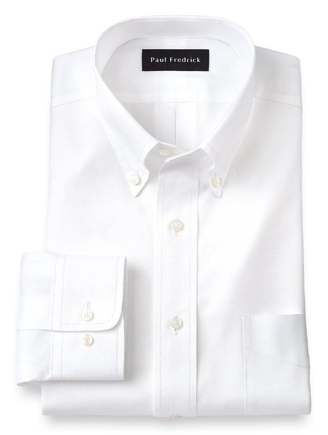 Slim Fit Egyptian Cotton Button Down Collar Dress Shirt