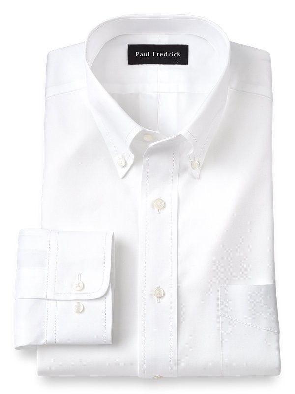 Slim Fit Superfine Egyptian Cotton Solid Color Button Down Collar Dress Shirt