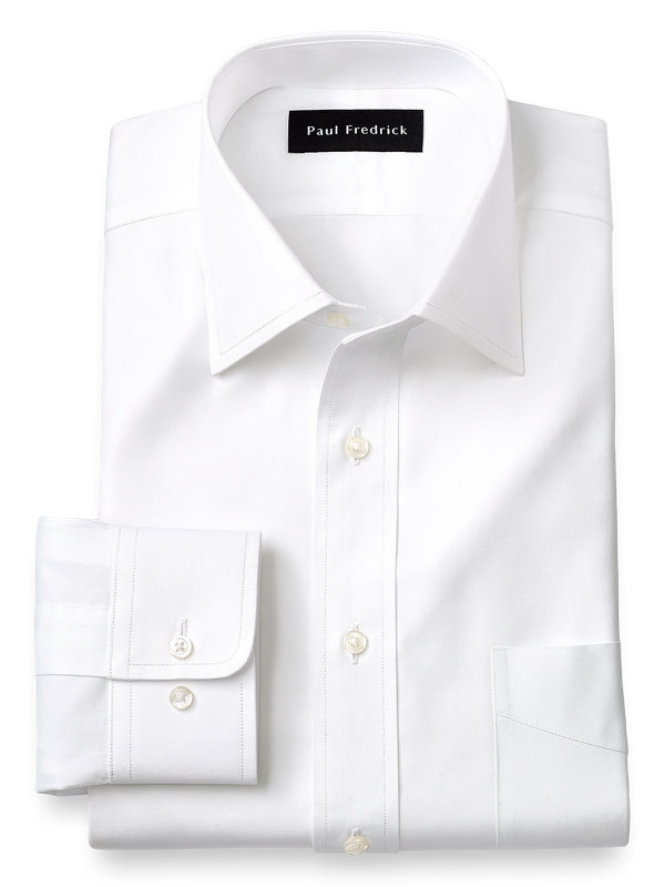 Slim Fit Superfine Egyptian Cotton Solid Color Spread Collar Dress Shirt