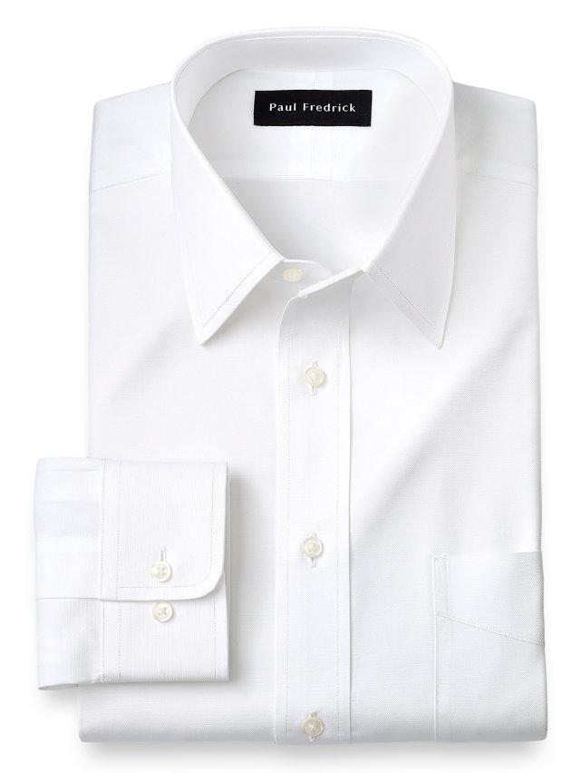 Slim Fit Egyptian Cotton Straight Collar Dress Shirt