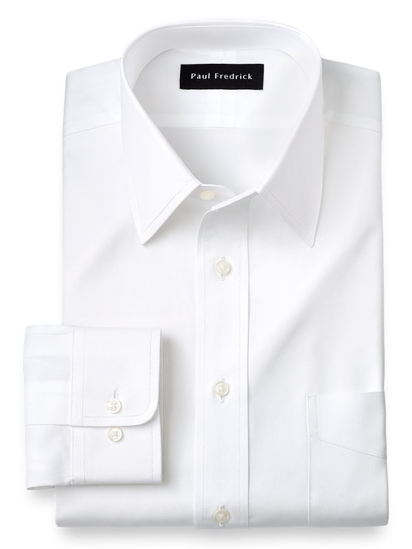 Slim Fit Superfine Egyptian Cotton Solid Color Straight Collar Dress Shirt