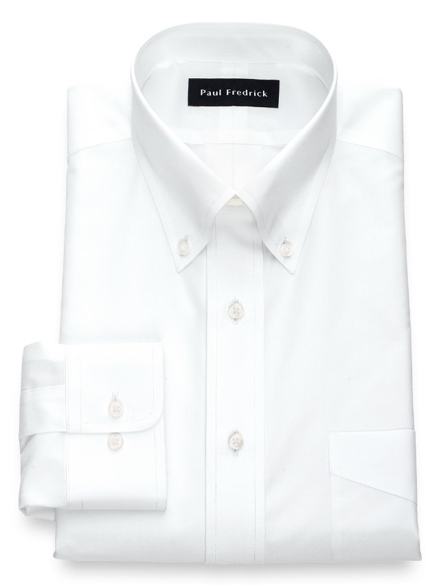 Slim Fit Non-Iron Cotton Broadcloth Button Down Collar Dress Shirt