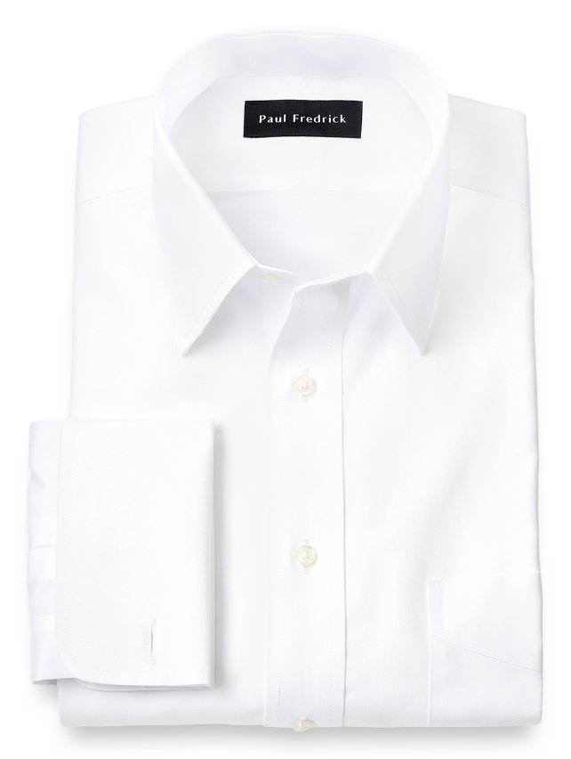 Slim Fit Non-Iron Cotton Pinpoint Straight Collar Dress Shirt