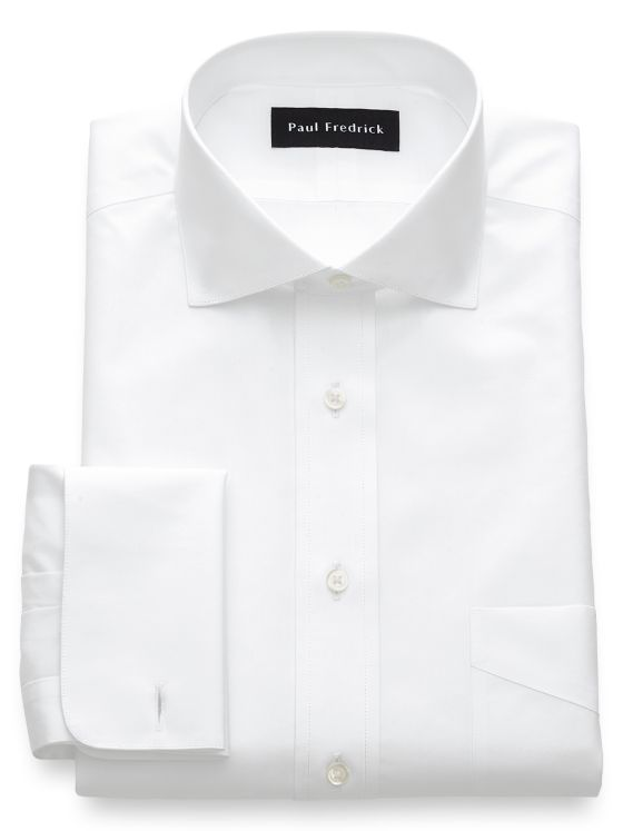 Slim Fit Non-Iron Cotton Broadcloth Cutaway Spread French Cuff Dress Shirt