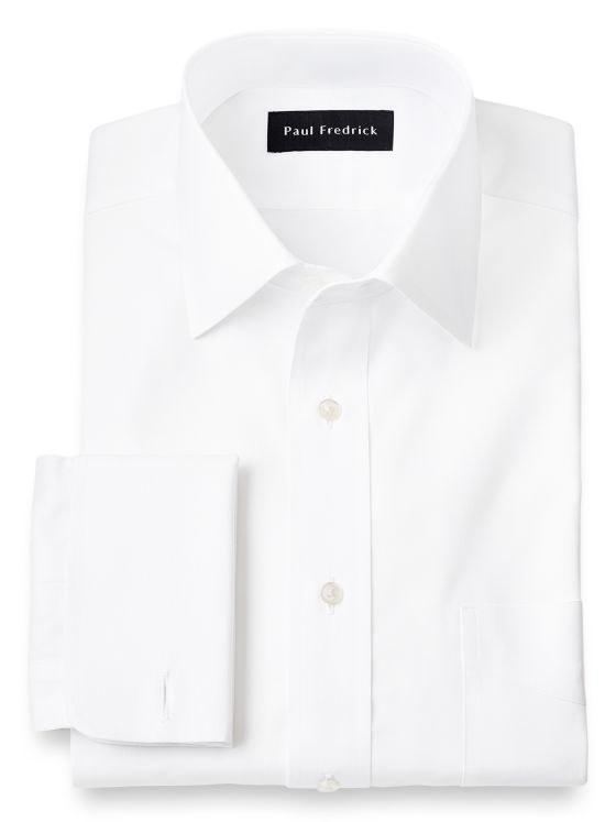 Slim Fit Superfine Egyptian Cotton Spread Collar French Cuff Dress Shirt