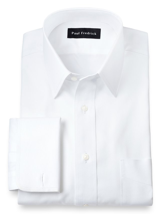 Slim Fit Egyptian Cotton Straight Collar French Cuff Dress Shirt