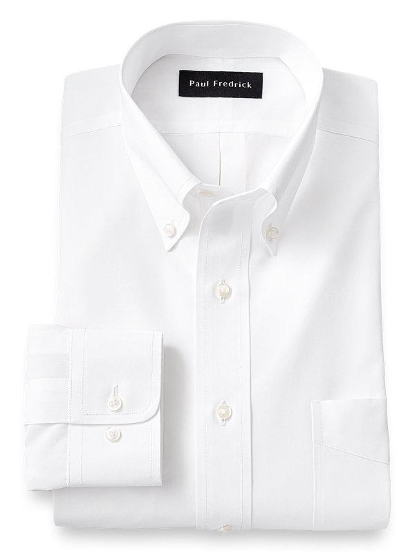 Slim Fit Supima Non-Iron Cotton Solid Color Button Down Collar Dress Shirt