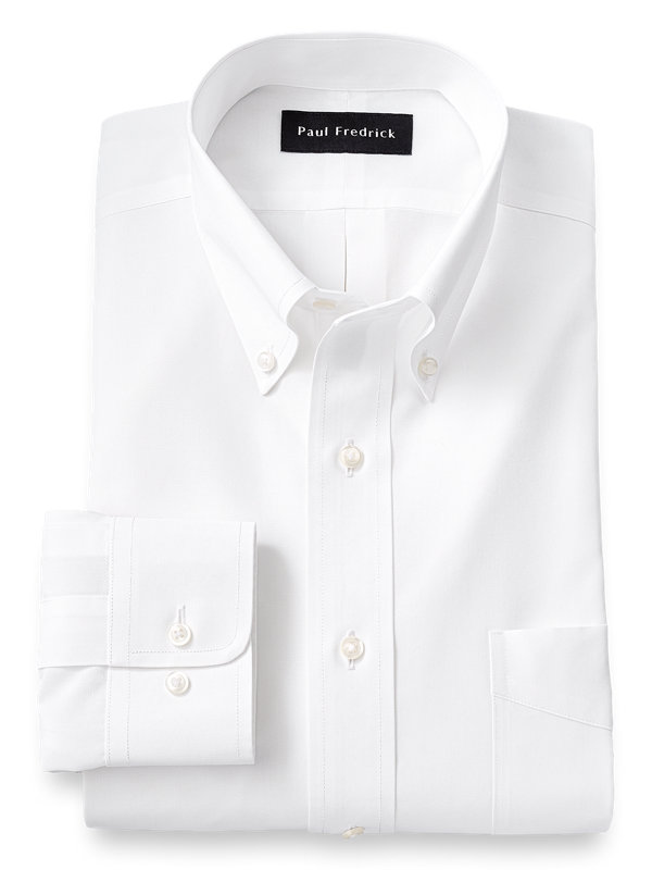 Slim Fit Supima Non-Iron Cotton Solid Color Button Down Collar Dress Shirt