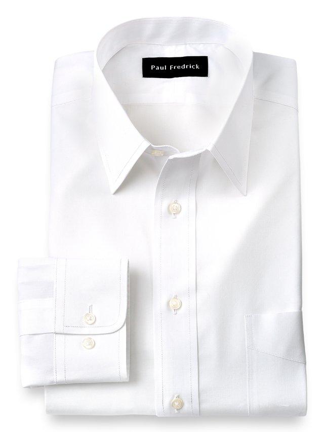 Slim Fit Non-Iron Supima Cotton Straight Collar Dress Shirt