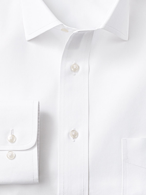 Slim Fit Supima Non-Iron Cotton Solid Color Spread Collar Dress Shirt