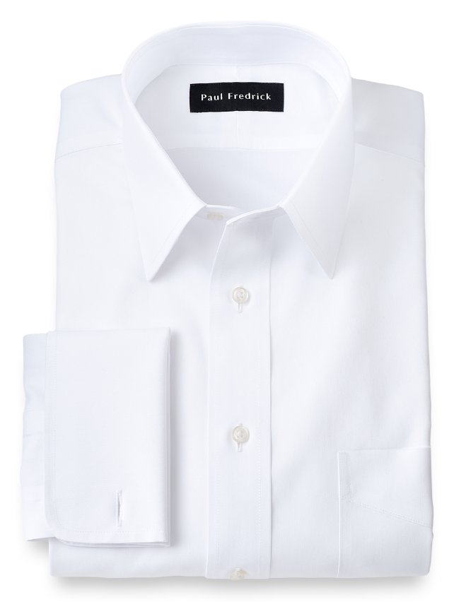 Slim Fit Non-Iron Impeccable Cotton Straight Collar Dress Shirt