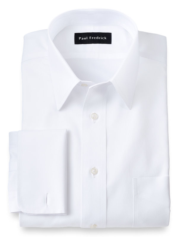 Slim Fit Impeccable Non-Iron Cotton Pinpoint Straight Collar Dress Shirt