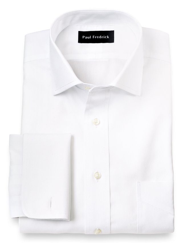 Slim Fit Non-Iron Impeccable Cotton Spread Collar Dress Shirt
