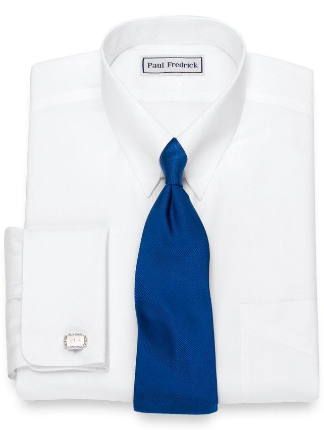 Slim Fit Non-Iron Supima Cotton Button Tab Collar French Cuff Dress Shirt
