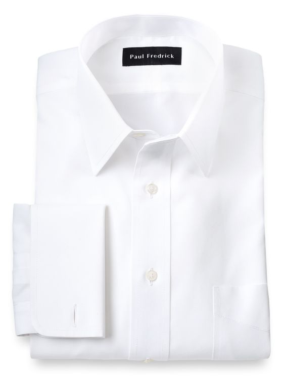 Slim Fit Supima Non-Iron Cotton Straight Collar French Cuff Dress Shirt