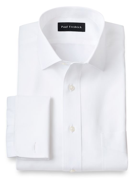 Slim Fit Supima Non-Iron Cotton Spread Collar French Cuff Dress Shirt