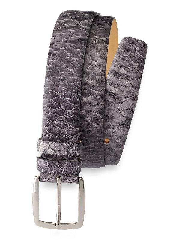 Snakeskin Embossed Leather Belt