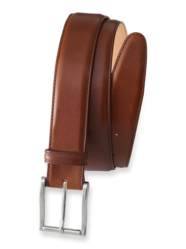Leather Belt With Changeable Buckle