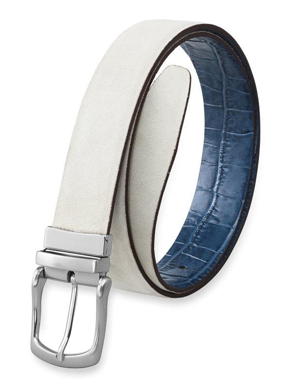 Henry Suede & Croc Reversible Belt