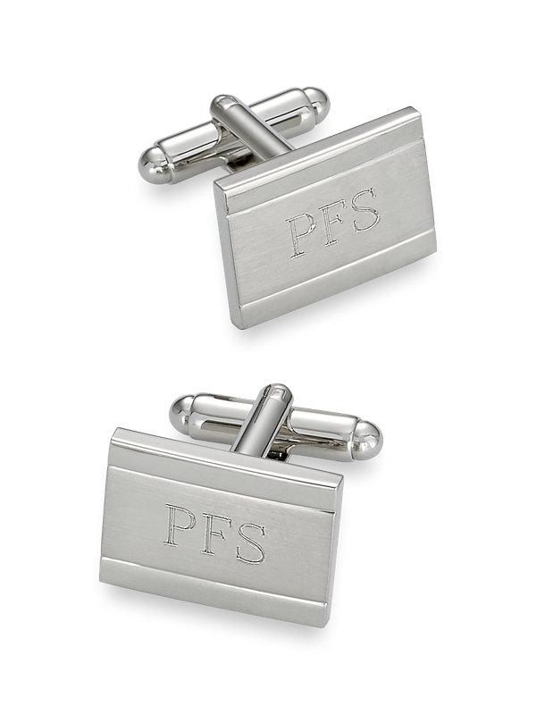 Brushed Metal Engraveable Cufflinks