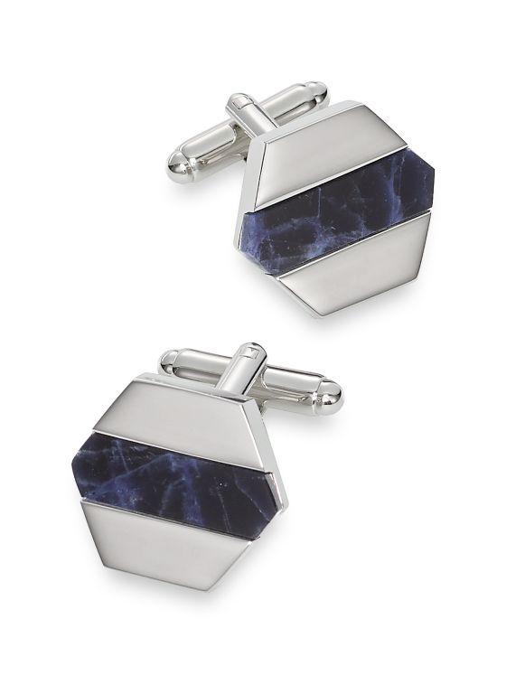 Sodalite Hexagon Cufflinks