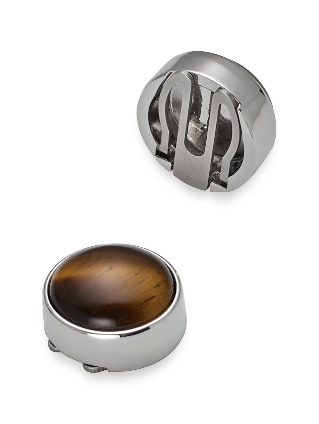 Tiger's Eye Round Button Cover