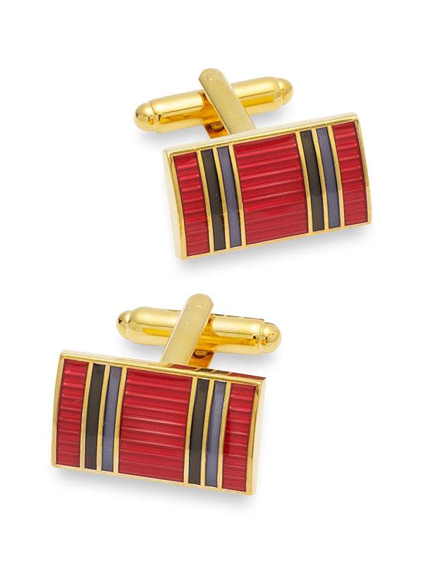 Enamel Striped Cufflinks