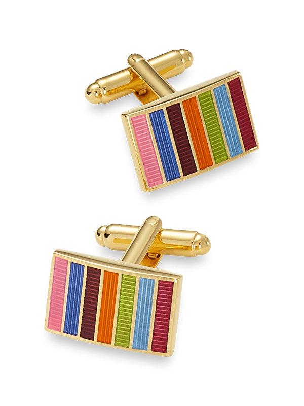 Enamel Stripe Cufflink