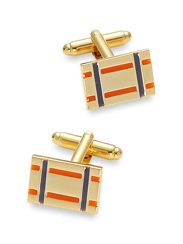 Enamel Plaid Cufflink