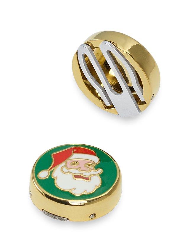 Enamel Santa Button Covers