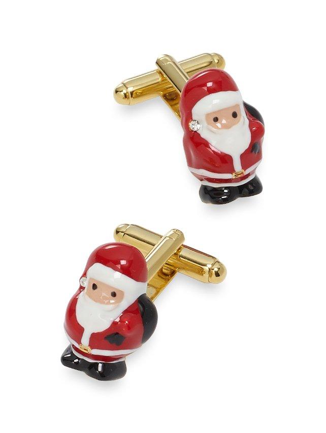 Enamel Santa Cufflinks